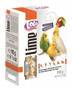Lolo Pets минеральный камень для птиц с яблоком - фото 6638