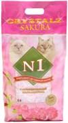 № 1 Crystals Sakura Наполнитель для туалета кошек силикагель Сакура