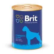 Брит Консервы для собак Говядина и рис