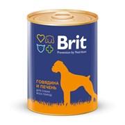Брит Консервы для собак Говядина и печень