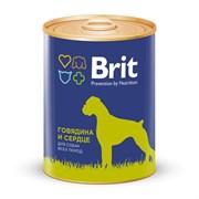 Брит Консервы для собак Говядина и сердце