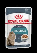 Royal Canin HAIRBALL CARE пауч для взрослых кошек для выведения волосяных комочков, мелкие кусочки в соусе, 85 г