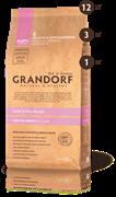 Grandorf ягненок с рисом для щенков с 3-х недель, низкозерновой