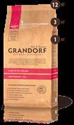 Grandorf ягненок с рисом для собак средних пород, низкозерновой