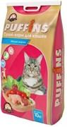 Пуффинс сухой корм для кошек, Мясное Жаркое, 10 кг