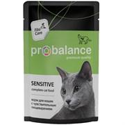 Probalance консервы для взрослых кошек всех пород c чувствительным пищеварением