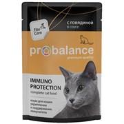 Probalance консервы для взрослых кошек всех пород, иммуно укрепляющие с говядиной в соусе
