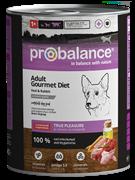 Probalance Консервы для собак телятина с кроликом Gourmet diet