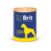 Брит Консервы для собак Говядина и пшено
