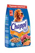 Chappi сухой корм для собак Мясное изобилие, мясное ассорти, с овощами, с травами